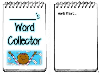 The Word Collector Student Notebook