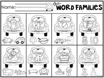 The Word Families {a rhyming sort}