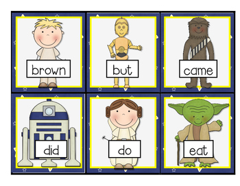 The Word Force is Strong!--Dolch Primer Sight Word Game for K-2