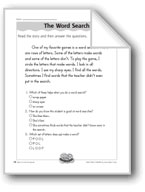The Word Search (Visual Discrimination)