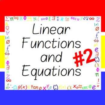 The Word Wall Bulletin Board Kit - Linear Functions and Equations #2