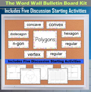 The Word Wall Bulletin Board Kit - Polygons