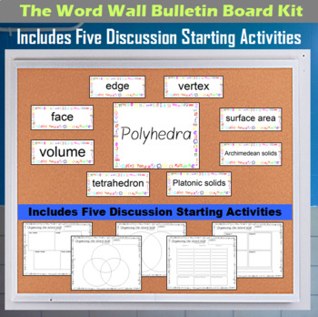 The Word Wall Bulletin Board Kit - Polyhedra