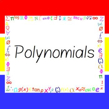 The Word Wall Bulletin Board Kit - Polynomials