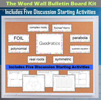The Word Wall Bulletin Board Kit - Quadratics