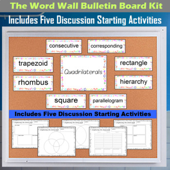 The Word Wall Bulletin Board Kit - Quadrilaterals