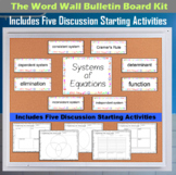 The Word Wall Bulletin Board Kit - Systems of Equations
