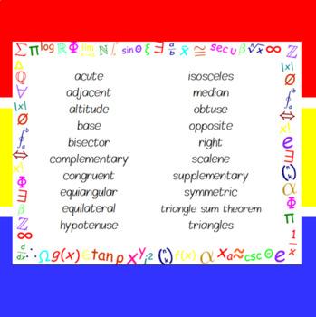 The Word Wall Bulletin Board Kit - Triangles