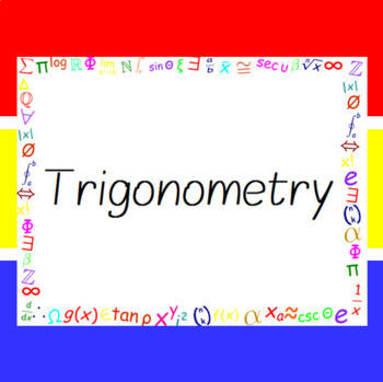The Word Wall Bulletin Board Kit - Trigonometry