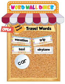The Word Wall Diner! Graphics and Editable High Resolution PDF Files Included