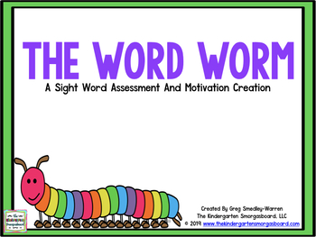 The Word Worm!  An EDITABLE Sight Word Recognition Creation!