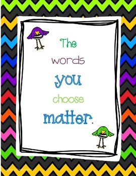 The Words You Choose Matter Poster