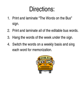 The Words on the Bus