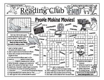 The Work of Making Movies Two-Page Activity Set