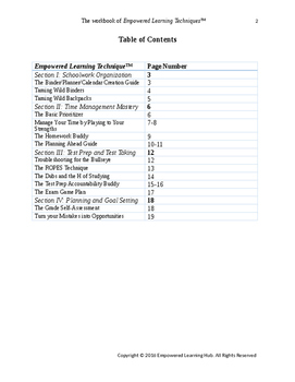The Workbook of Empowered Learning Techniques