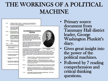 The Workings of a Political Machine - US History/APUSH