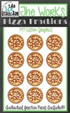 The Works Pizza Themed Fraction Clip Art Set