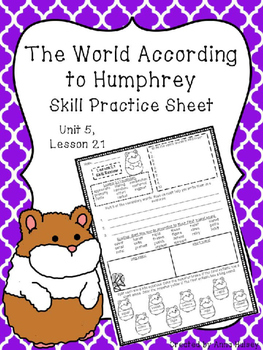 The World According to Humphrey (Skill Practice Sheet)