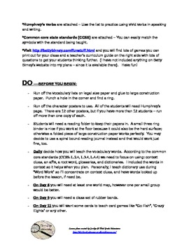 The World According to Humphrey - 15 day lesson plan