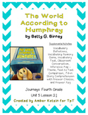 The World According to Humphrey Activities 4th Grade Journeys Unit 5, Lesson 21