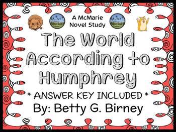 The World According to Humphrey (Betty G. Birney) Novel Study / Comprehension