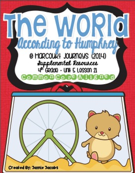 The World According to Humphrey (Journeys 4th Gr. - Supplemental Materials)