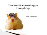 The World According to Humphrey Journeys Lesson 21 Vocabulary