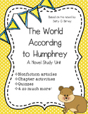 The World According to Humphrey Novel Study