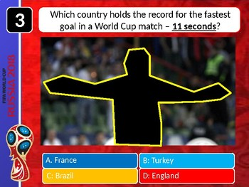The World Cup 2018 Quiz #2 Form Tutor Activity Cover Lesson PE Football Sport