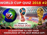 The World Cup 2018 Quiz #2 Form Tutor Activity Cover Lesso