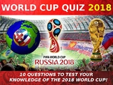 The World Cup 2018 Quiz Form Tutor Activity Cover Lesson PE Football Sport