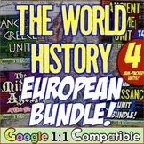 World History European Bundle! Greece, Rome, the Middle Ages, & Renaissance!