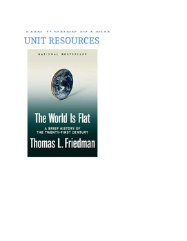 The World Is Flat: Unit Resources
