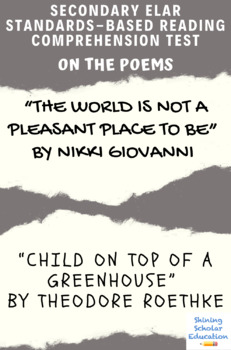 The World Is Not a Pleasant Place... & Child...Top of a Greenhouse Reading Test