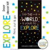 The World Is Yours To Explore - April Door Decoration Kit - April Bulletin Board
