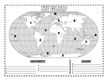 The World - Learning Continents and Oceans