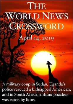 The World News Crossword - April 14th, 2019