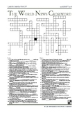 The World News Crossword - August 12th, 2018