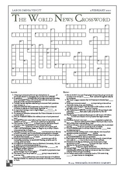 The World News Crossword - February 2, 2020