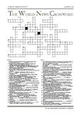 The World News Crossword - June 17th, 2018