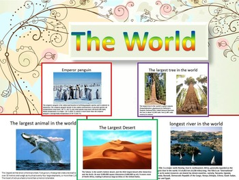 World PowerPoint Lesson Desert River Mountains Falls - Top 50 longest rivers in the world