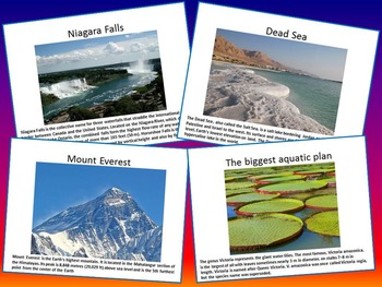 World - PowerPoint Lesson - Desert - River - Mountains - Falls - Sea...