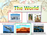 World PowerPoint Lesson Desert River Mountains Falls Sea