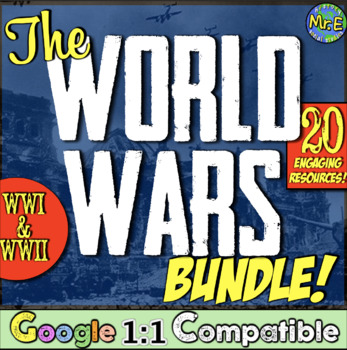 World War 1 and World War 2 Bundle!  9 fun activities for WWI and WWII!