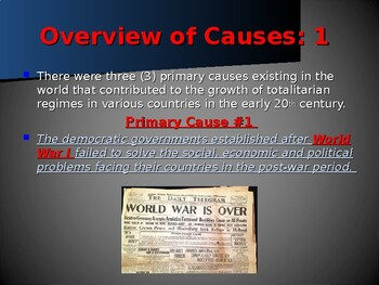 World Wars Era - Post WW I Era - The Rise of Totalitarian States