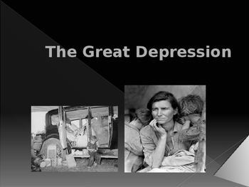 World Wars Era - Pre WW II - The Great Depression