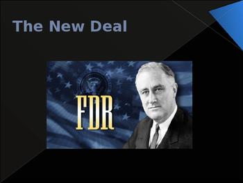 World Wars Era - Pre WW II - The New Deal
