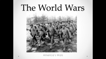 The World Wars (Lesson Plan, PowerPoint, Activity, and Quiz)