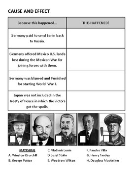 The World Wars Test
