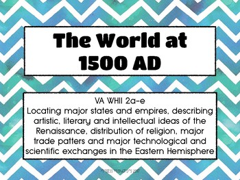 The World at 1500 - Task Cards for World History II